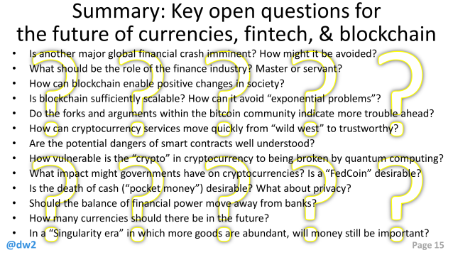 DW GLF Fintech Key Open Questions